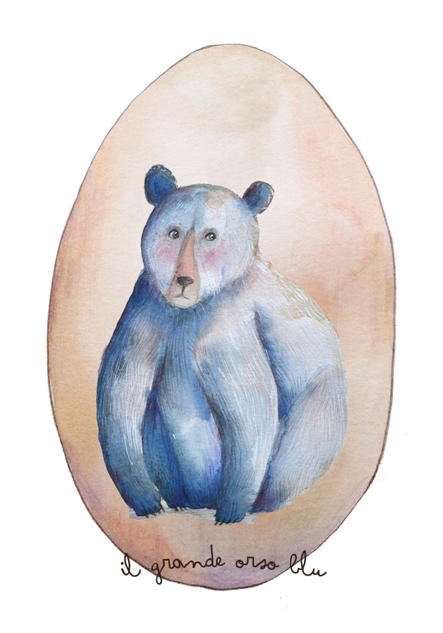 L 39 orso blu cecilia cavallini for Affitti cabina grande lago orso