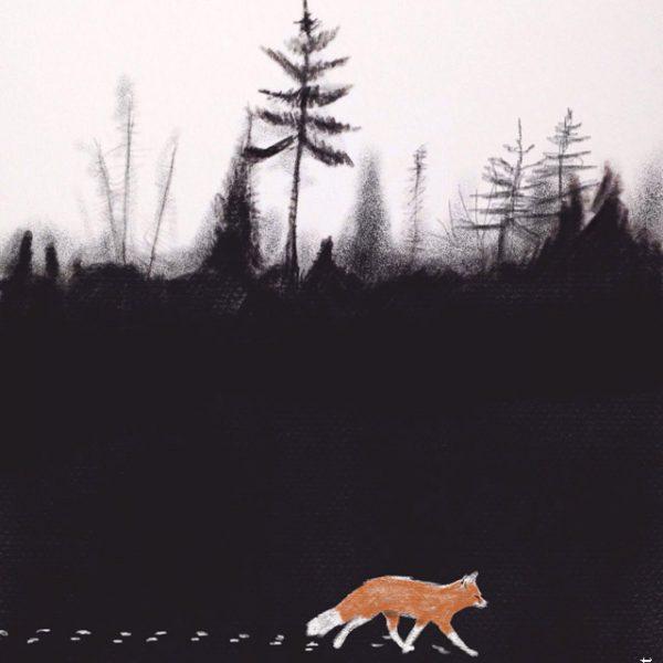 La volpe nel bosco