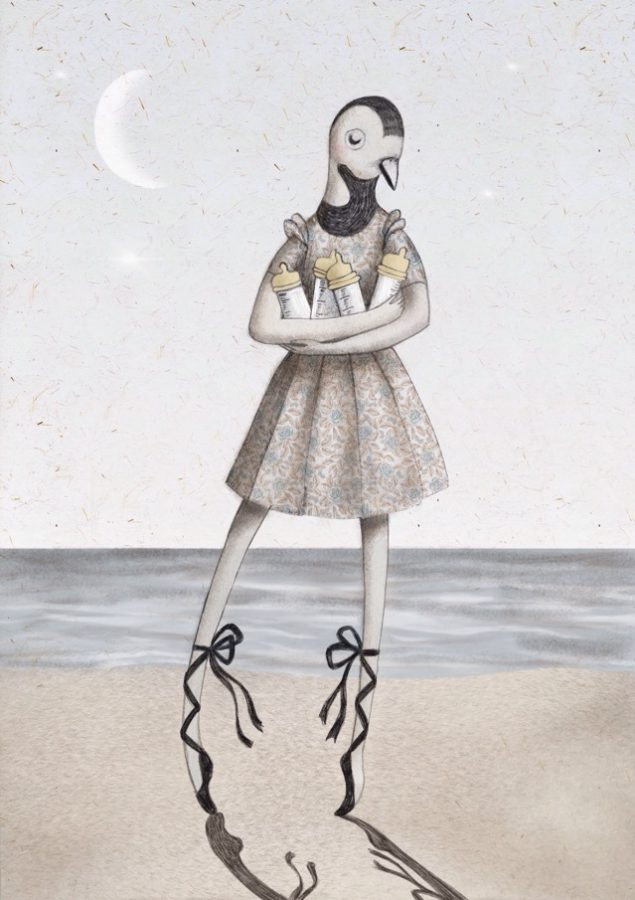 La ballerina del mare - cecilia cavallini illustrazione