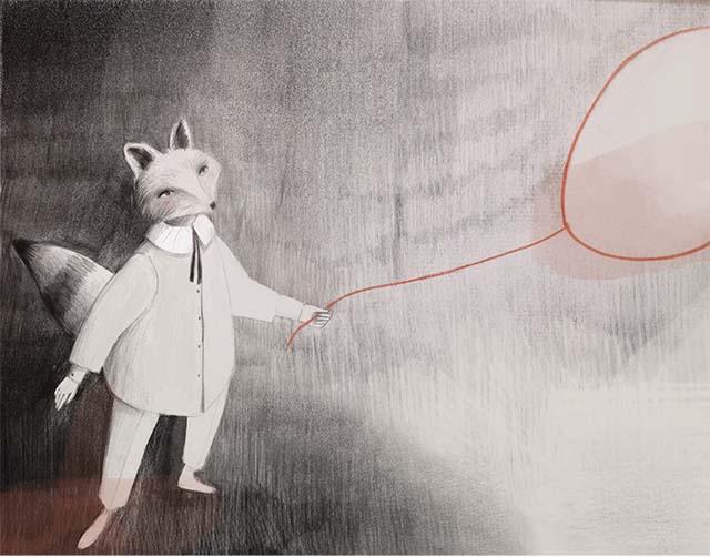 Signor Fox ed il palloncino