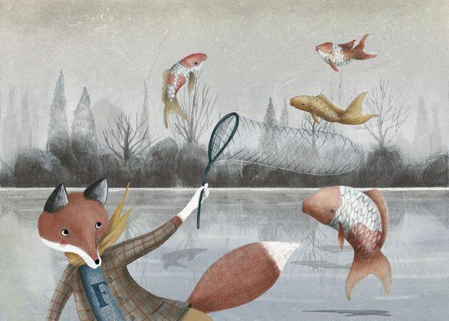 Il Signor Fox ed i pesci volanti 2xweb