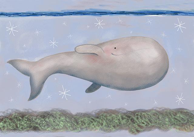 La balena sottosopra
