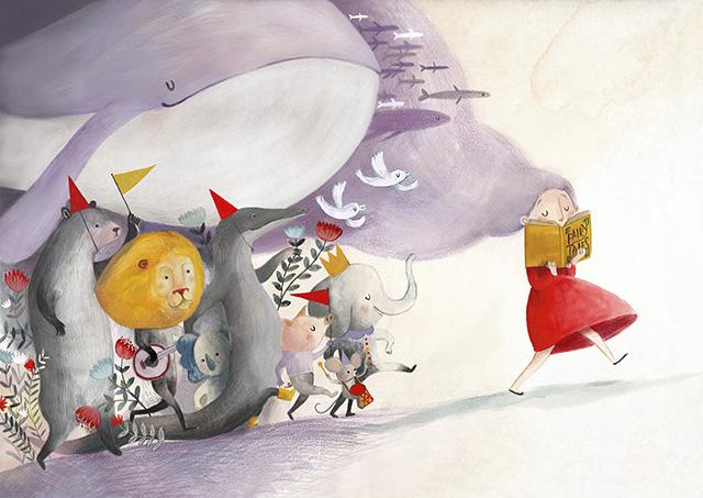 Red paper Kite Illustrazione bassa risoluzione